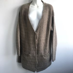 Cotélac V-neck Wool & Mohair Open Knit Cardigan 8